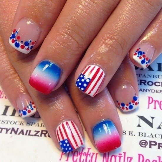 517 best 4th of july nail art images on pinterest nail scissors fourth of july nails could do write and red ombre on all except one nail paint blue solutioingenieria Choice Image