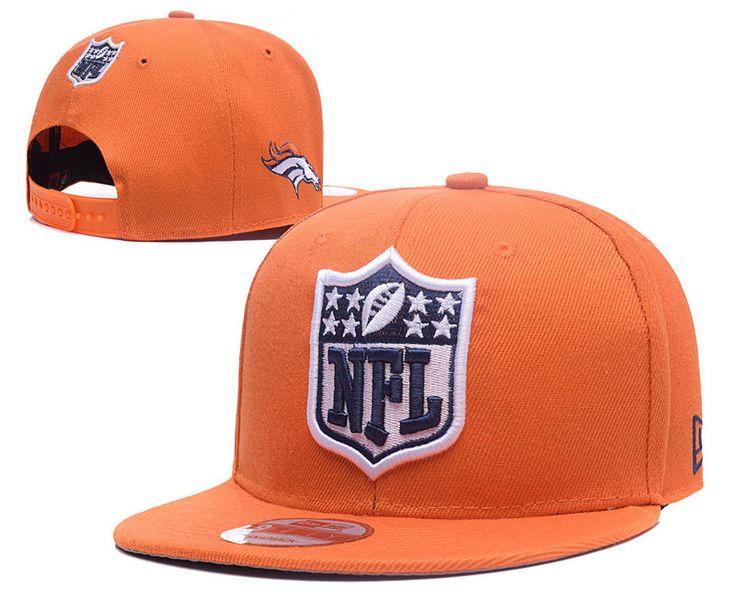 Men's Denver Broncos New Era NFL Team Shield Logo Embroidery 9FIFTY Snapback Cap - Orange