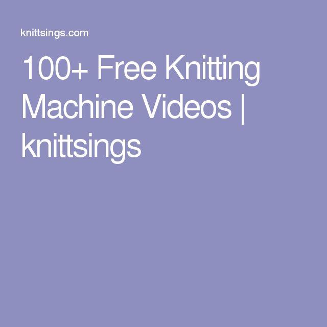 best knitting machine