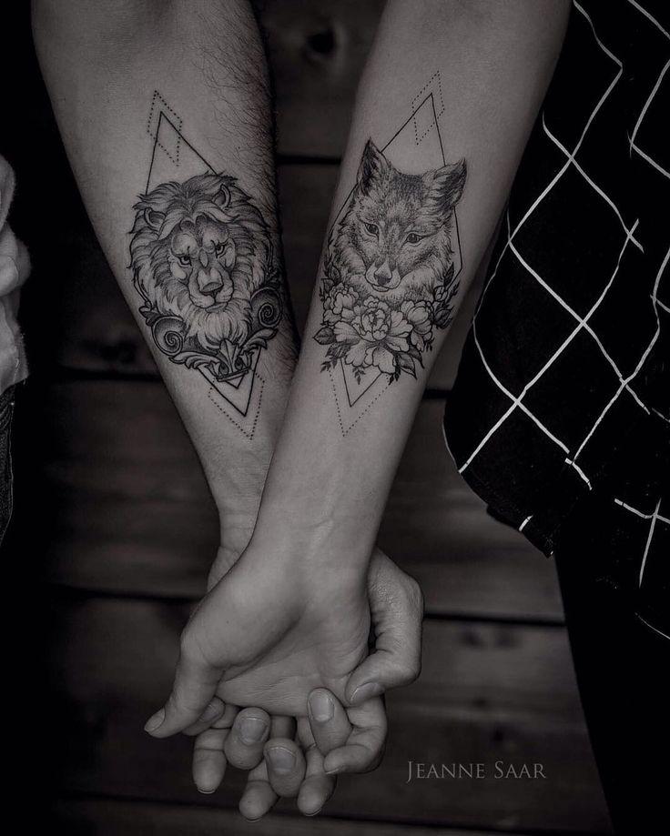 Парные татуировки для Ксении и Александра ✨