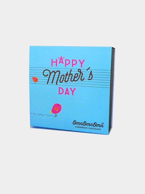 Happy Mothers Day. Designed chocolate box with handmade pralines.
