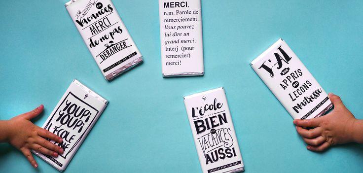 DIY : à télécharger emballage de tablettes de chocolat