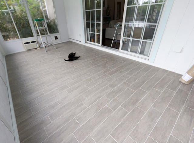 Gray Wood Tile Planks For The Floor Gorgeous