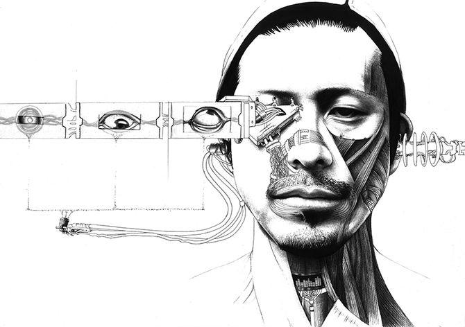 Фото и рисунки, арт и креативная реклама Cyber art by Jamy van Zyl