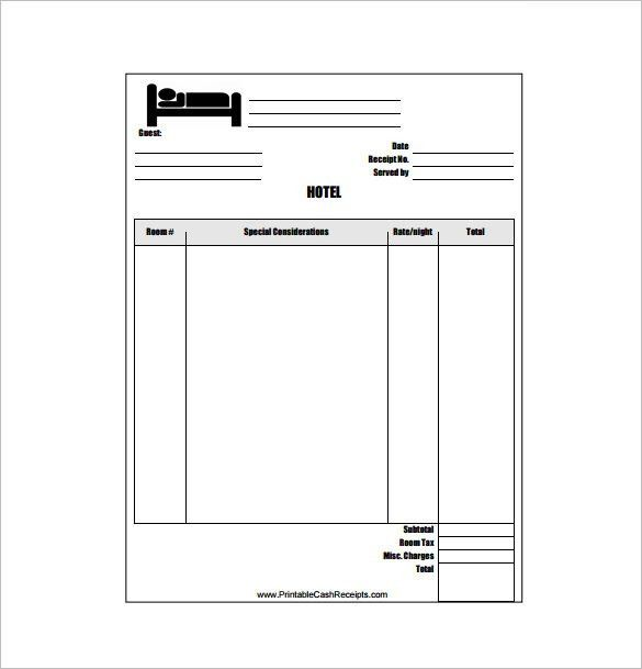Lodge Bill Format In Word Hotel Receipt Template 12 Free Word