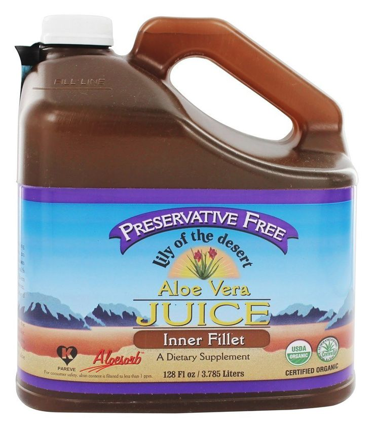 Save on Aloe Vera Juice Inner Fillet Preservative Free Organic Gallon by Lily Of The Desert and other Aloe Vera Supplements and Gluten-Free remedies at Lucky Vitamin. Shop online for Nutritional Supplements, Lily Of The Desert items, health and wellness products at discount prices.