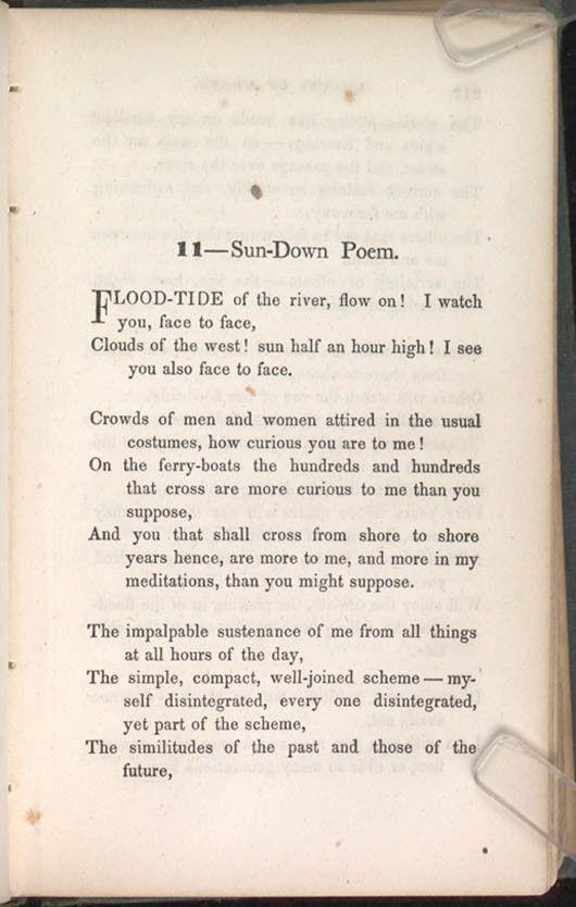"""crossing brooklyn ferry by walt whitman essay View essay - crossing brooklyn ferry essay from ap english at glen cove high school q ' 10-23 -06 [i pciiod 6 it """"crossin brook] fe """"b' walt whitman : it written in 1885, the poem."""