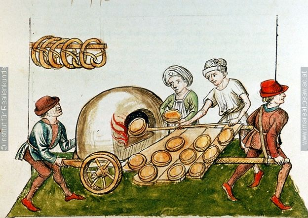 Konzil von Konstanz Pastetenbäcker Dieses Bild: 006705 1465 ; 1475 ; Wien ; Österreichische Nationalbibliothek ; cod. 3044 ; fol. 48v