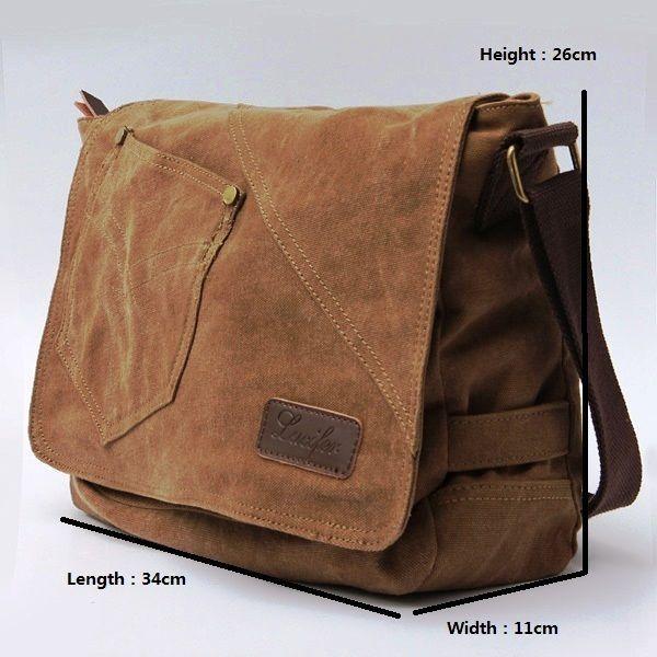 Men Canvas Messenger Shoulder Bags Hiking Satchel Travel Handbag #511 #ToteBag