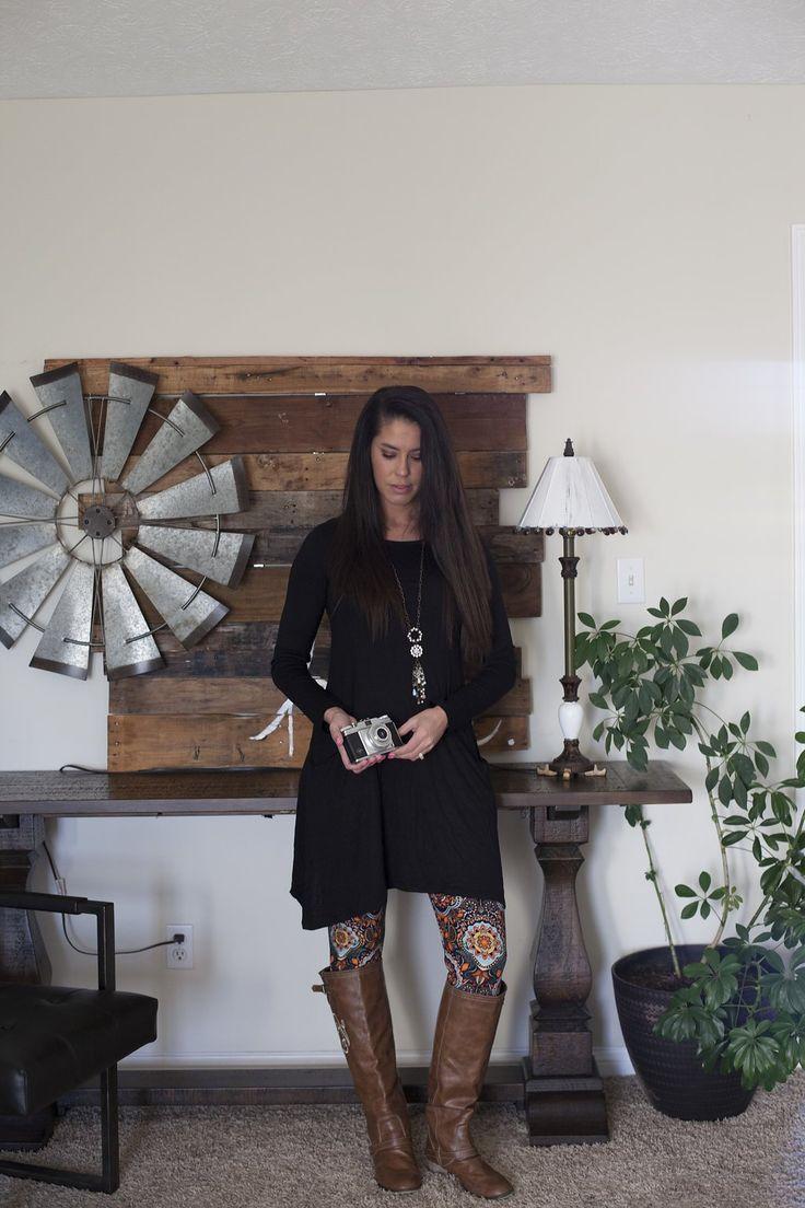 Rhythm of Love Black Tunic Dress