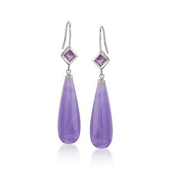 purple oge purpe jade fine jewelry earrings huggie