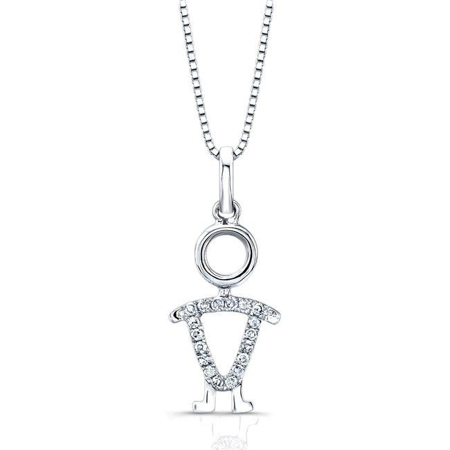 Auriya 14k Gold Diamond Accent Boy Necklace