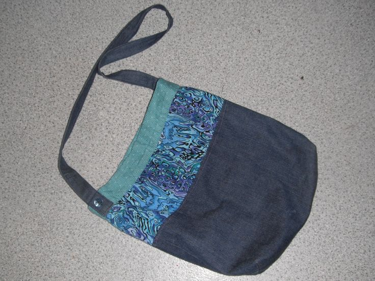 Recycled denim bag