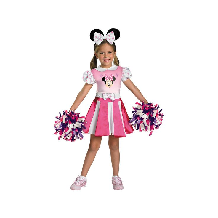 Disney Mickey Mouse Clubhouse Minnie Mouse Cheerleader Costume - Toddler/Kids, Girl's, Size: 3T-4T, Multicolor
