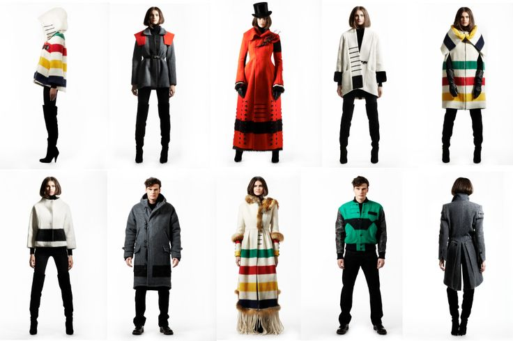 Hudson's Bay's winter collection. Colorful bold stripe is so outstanding. #MKM915 #hudsonsbay #fashion