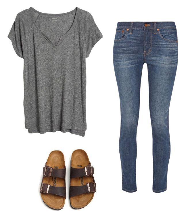 """""""Basic"""" by katiebug1031 on Polyvore featuring Madewell and Birkenstock"""