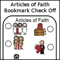 LDS Articles of Faith Bookmarks - keep track of learning the Articles of  Faith