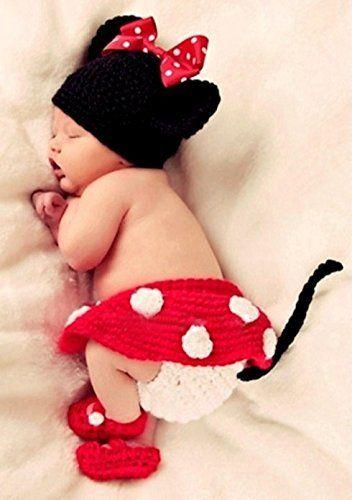 ベビー コスチューム 寝相アート ハロウィン ミニー ミニーちゃん ブルマ ベビー服 記念撮影 赤ちゃん 毛糸 ハンドメイド Disney ディズニー 写真撮影用 衣装 誕生記念 赤ちゃん服  仮装 かわいい ベビーニット帽 コスプレ 着ぐるみ 靴  出産祝い