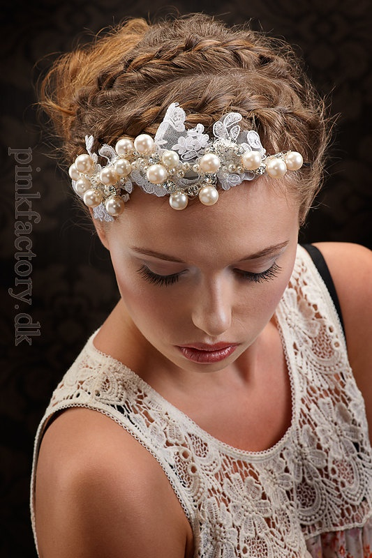 My Gorgeous Phenia lace hair piece  Romantic by SoBridelicious, $100.00