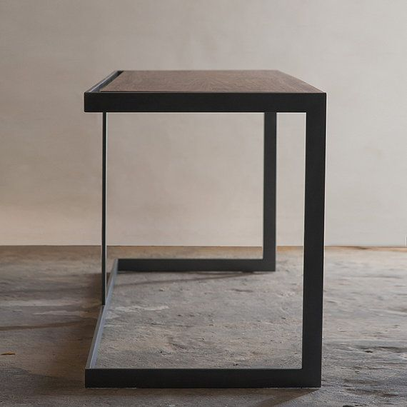 Suspended Wood and Metal Desk Modern Industrial Design on Etsy, $2,150.00