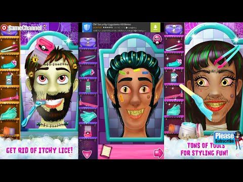 Hairy Face Salon Monster Shave Videos games for Kids - Girls - Baby Andr...