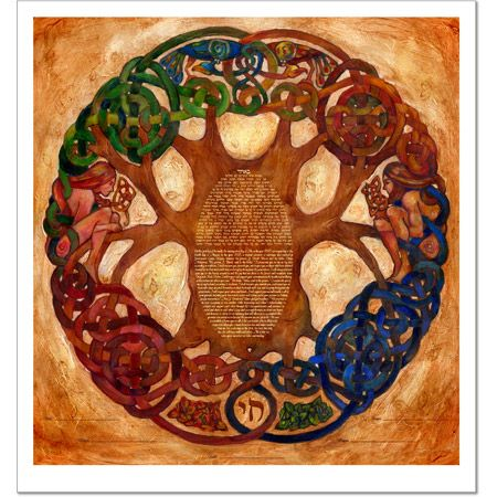 Celtic Tree Of Life  Ketubah by Claire Carter