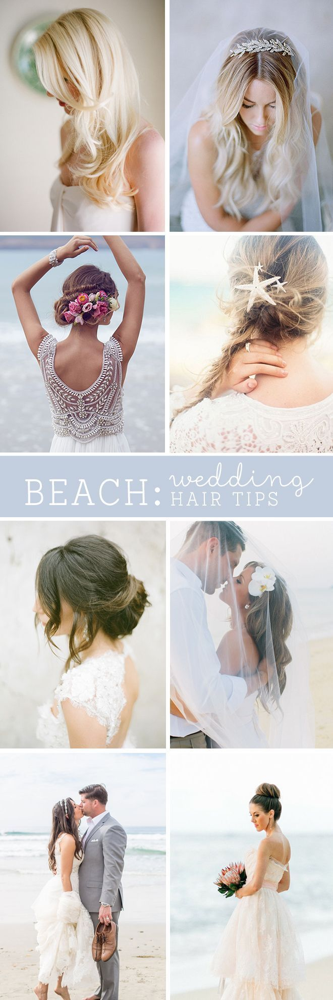 Here's a must read for awesome beach bridal hair tips and inspiration!