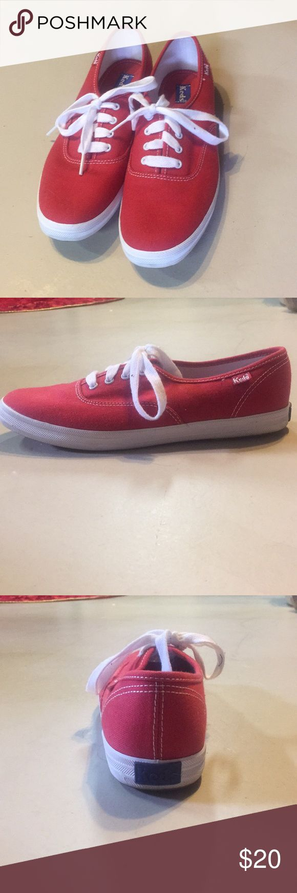 Red Keds Never worn! Red Keds. Size 7.5 Keds Shoes Sneakers