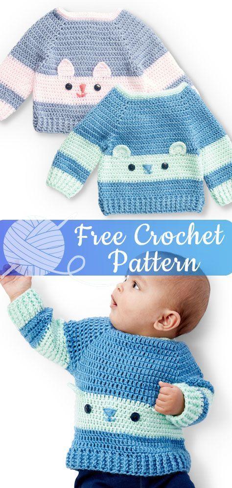 Charakter Pullover Freecrochetpatterns Crochet Free