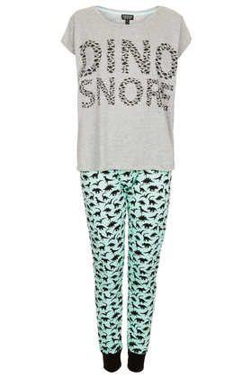 Dino Snore Pyjama Set - Sleepwear - Clothing - Lingerie, Sleepwear & Loungewear - http://amzn.to/2ieOApL