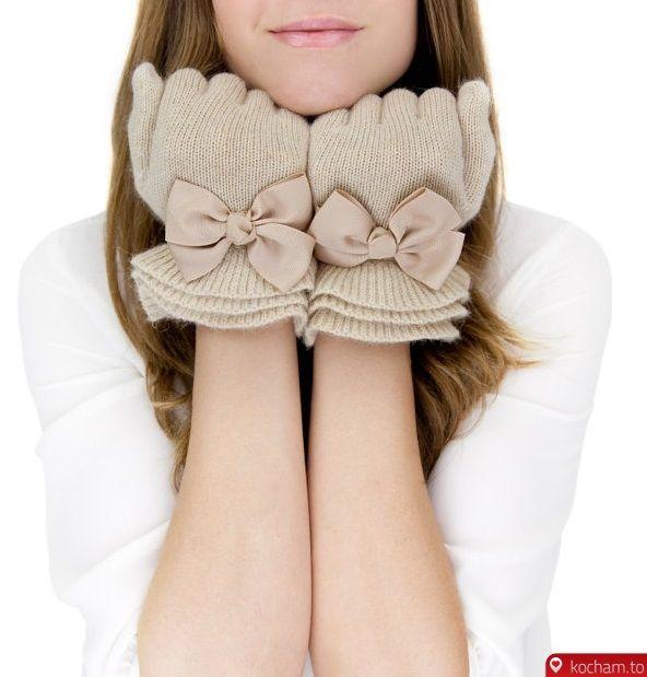 Kocham.to - Rękawiczki z kokardami