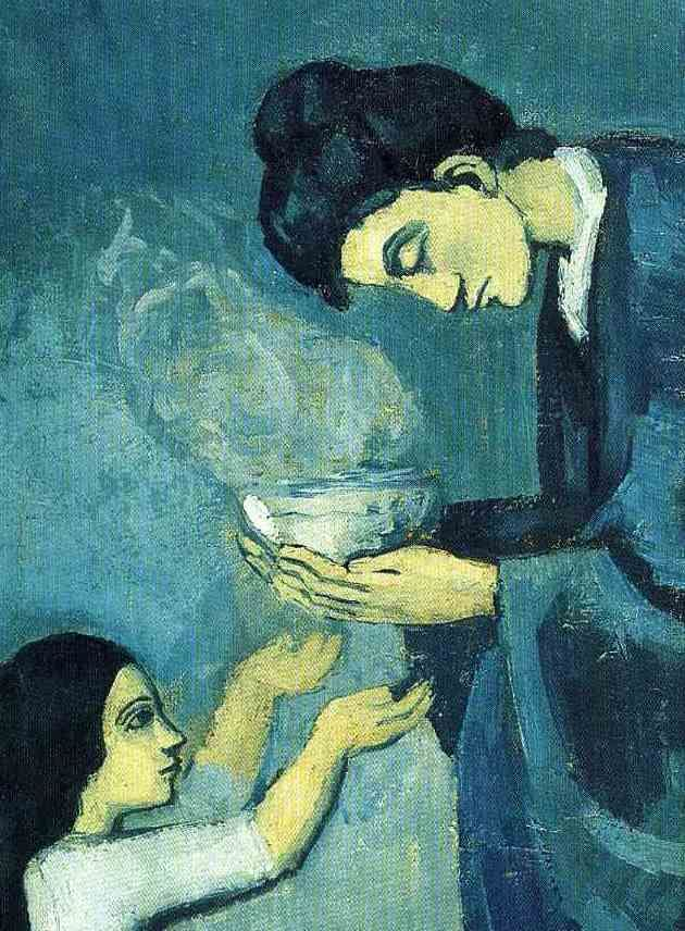 """""""The Soup"""" (detail), 1902-03, Pablo Picasso. #blueperiodday"""