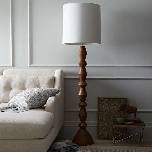stacked wood floor lamp // west elm