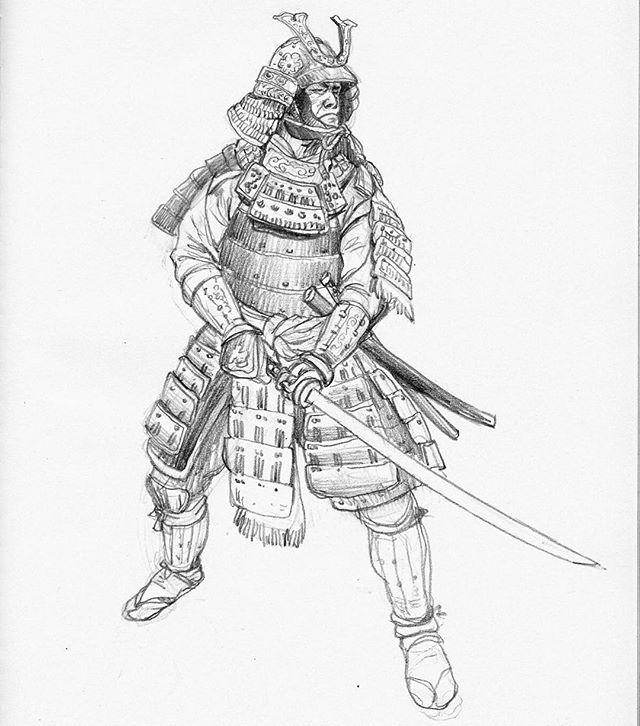 Today S Early Morning Sketch Samurai Japan Japanesewarrior