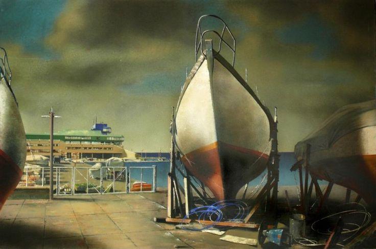 Рейн Таммик. Весна в Таллинском яхт-клубе, 1983