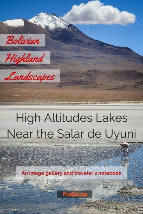 Bolivian Highland Landscapes - High Altitudes Lakes Near the Salar de Uyuni