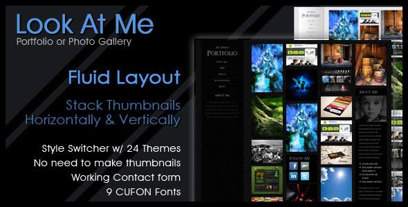 Look At Me - Portfolio/Design/Photo Gallery Portfolio Creative Template. Live Preview & Download: http://themeforest.net/item/look-at-me-portfoliodesignphoto-gallery/153906?s_rank=710&ref=yinkira
