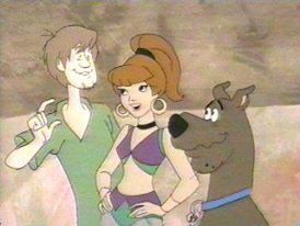 Jeannie with Shaggy and Scooby