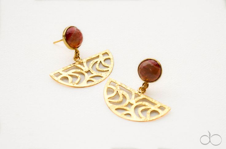 ADRINKA earrings.  24k gold plated - Ágata