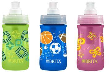 Brita filtered water bottles for kids - so great for travel.