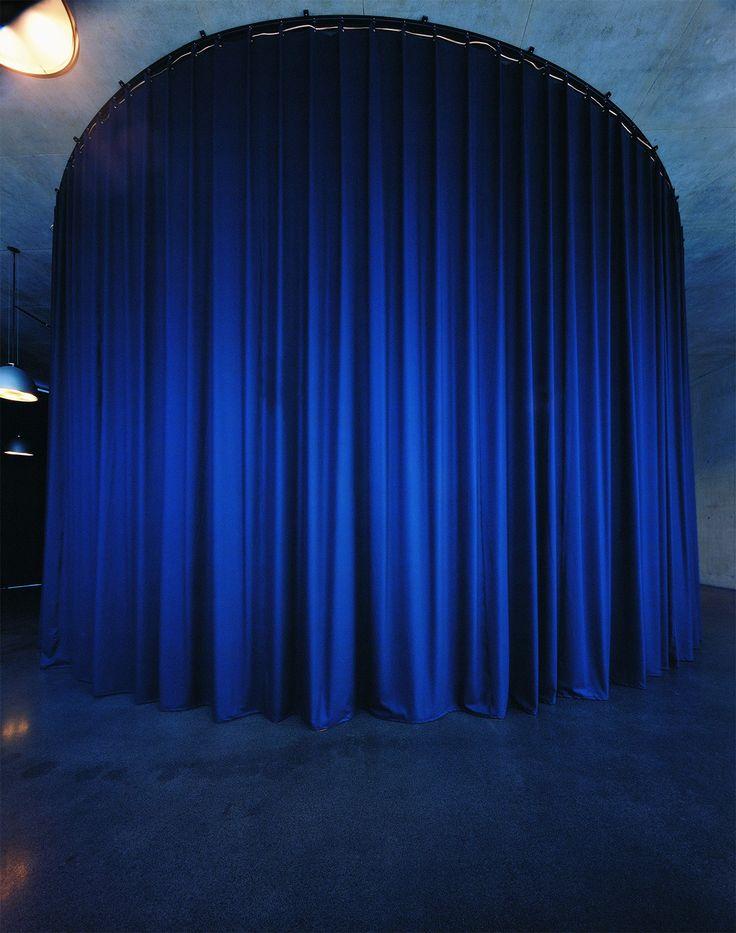 Installation by Thomas Demand at Kunsthaus Bregenz, Austria. Kvadrat textiles.