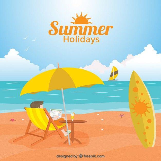 summer-holidays-illustration_23-2147518214.jpg (626×626)