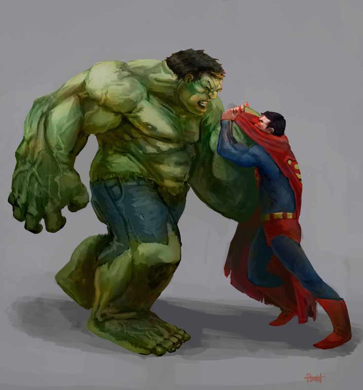Hulk vs Superman by ~KZBulat on deviantART