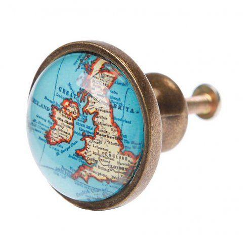 Kastknop kinderkamer kaart Engeland