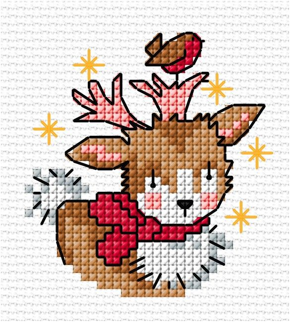 Christmas baby deer   Lesley Teare Thoughts on Design
