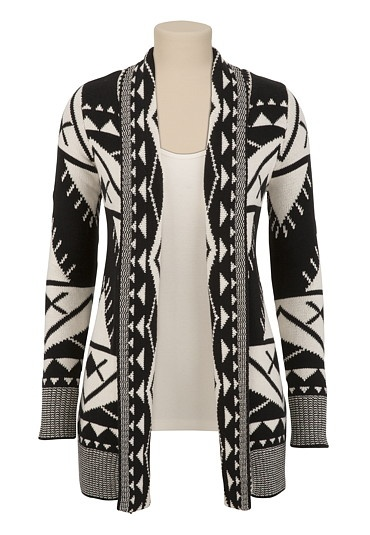 Long Jacquard Cardi Sweater available at #Maurices