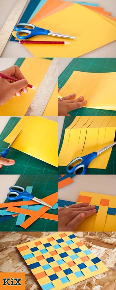 Try paper weaving with your kids - easy and fun way to get crafty (Promote children's fine motor skills)