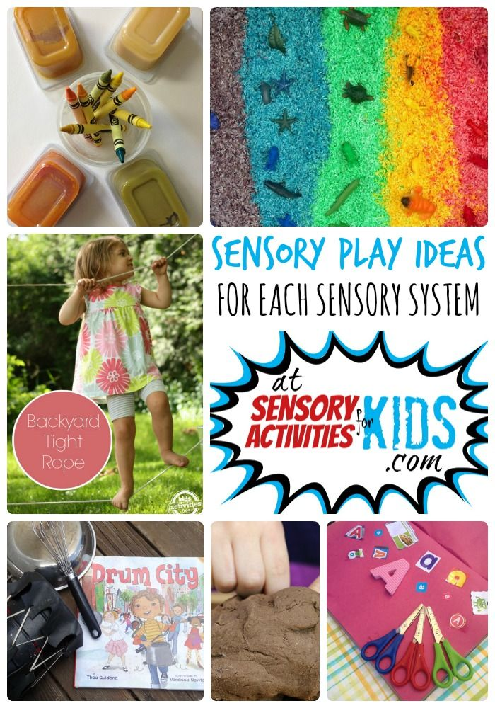 Sensory Play Ideas for Each Sensory System + The Weekly Kids Co-Op Link Party at SensoryActivitiesforKids