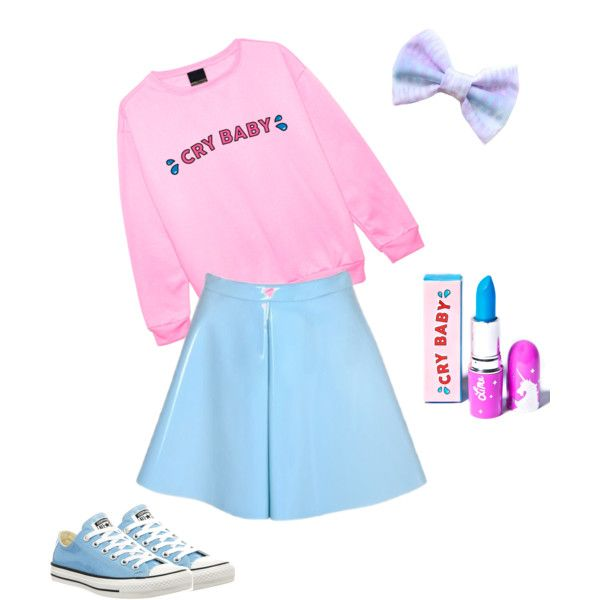 Melanie Martinez by avalon-curtin on Polyvore featuring polyvore, moda, style, Converse and Lime Crime