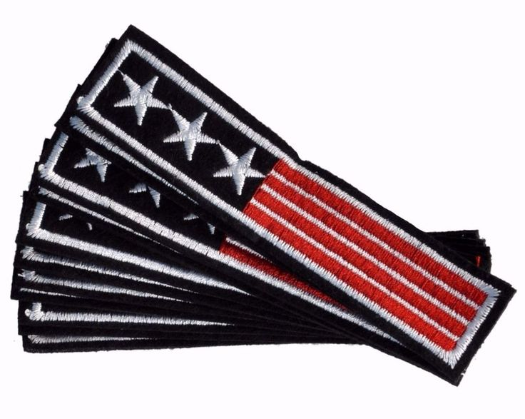 USA flag Army style strip iron on patch AMERICAN FLAG US ARMY STYLE PATCHES #USA